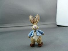 Miniature knitted Rabbit 4.6cm high | Craftsy