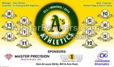 Athletics baseball banner design from http://AllStarBanners.com