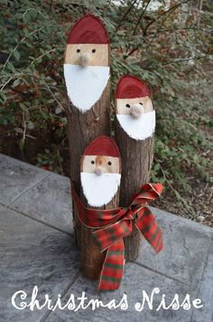 Smart Girls DIY - Cedar Log Christmas Nisse: