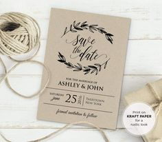 FREE Printable Wedding Invitation Template | Pinterest | Free ...