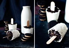 Peanut Butter Oreo Popsicles | Top 10 Homemade Yummy Desserts With Oreo Cookies!
