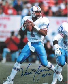 Athlon Warren Moon Signed Houston Oilers 8 X 10 Photo - Hof 06 - White  Jersey ce2064cbd