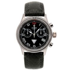 Breitling, Chronograph, Watches, Accessories, Black, Fashion, Sport Watches, Black Leather, Women