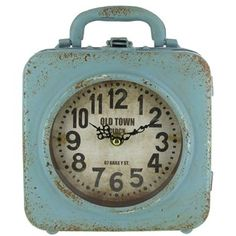 Blue Old Town Double Metal Clock with Handle | Shop Hobby Lobby