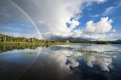 Reflection of a rainbow in Killarney, County Kerry.  For some interesting facts about Killarney, read on here: http://irsh.us/1s9v7dZ  (Credit - ThinkStock/Getty)