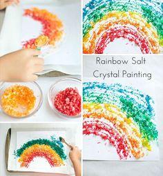 Rainbow Salt Crystal Painting