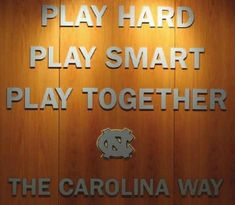 32167ebd30cbf7 UNC Basketball — Play Hard Play Smart Play Together The Carolina.
