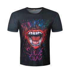 Suicide squad t shirt Harley Quinn joker deadshot tshirt 3d T Shirts, Casual T Shirts, Printed Shirts, Men Casual, Deadshot, Jared Leto, Joker Brand, Dc Comics, Joker And Harley Quinn