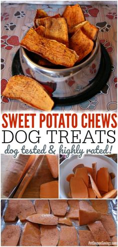 Sweet Potato Chews Dog Treats are not only super easy to make, but they are very healthy for your dog too! Sweet Potato Chews Dog Treats are not only super easy to make, but they are very healthy for your dog too! Puppy Treats, Diy Dog Treats, Healthy Dog Treats, Best Treats For Dogs, Gourmet Dog Treats, Sweet Potato Dog Chews, Sweet Potatoes For Dogs, Sweet Potato Dog Food Recipe, Dog Biscuit Recipes