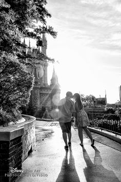 Sprinkle your engagement session with a little bit of pixie dust at Walt Disney World. Photo: Mike, Disney Fine Art Photography