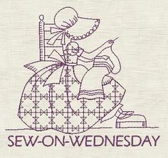 sunbonnet sue days of the week - Bing Images
