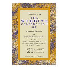 Paint wedding invitation - summer wedding diy marriage customize personalize couple idea individuel