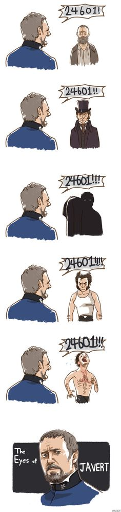 He sees through all of the disguises The Eyes of JAVERT by *Hallpen on deviantART