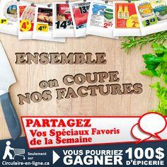 Concours: Partagez vos Spéciaux et Gagnez 100$ d'Épicerie! - Circulaire en ligne Jarlsberg, Cheese Bar, Pork Loin, Pageants, Fishing Line