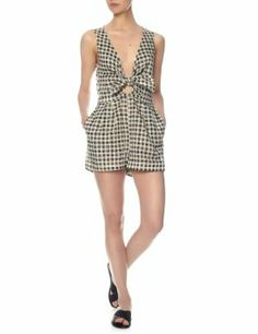 Monochrome Mystic Knot Playsuit  Zimmermann  Avenue32