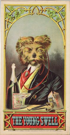 how dapper is this dog from a cigarette card illustration??
