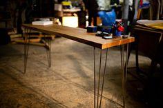 OAK COMPUTER TABLE: Contemporary Oak Side by HardmanDesignBuild