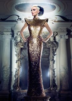 Daphne Guinness in the March issue of Tatler Hong Kong wearing couture . Shot by: Markus + Indrani's lens,