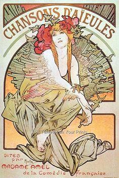 alphonse mucha RARITIES | Details about Rare Alfons Alphonse Mucha Art Nouveau Prints Vintage ...