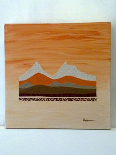 Hills and Tribal - Textured acrylic on canvas 2009