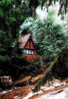 #простокрасиво Домик в лесу - Мила Рад - Google+