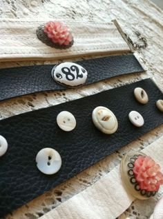 repurposed bracelets made from leather purses | DuctTapeAndDenim.com