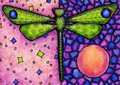 Green Dragonfly 5x7 Print by crookedlittlestudio on Etsy