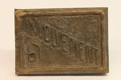 Class of 1967 bronze time capsule cover