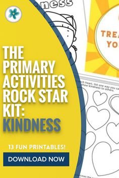 This Primary Activities kit will make YOU look and feel like the rock star Primary Activities leader you've always wanted to be! Get it todya! #Primary #Primary2021 #PrimaryPrintables #LDSprimary #LatterDaySaint #Ministering #MinisteringPrintables Primary Activities, Enrichment Activities, Primary Lessons, Activities For Kids, Visiting Teaching, Teaching Kids, Kids Learning, Lds Primary, Primary Music