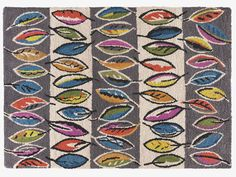 Fifty Leaves large multi-coloured rug. £450.00