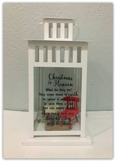 Christmas in Heaven  Memorial Lantern | Memory Lantern | Sympathy | Bereavement | Memorial Candle | Memory Candle | Christmas in Heaven Chair