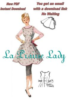 Repro Vintage Full and Half Apron Pattern 50s on by laprairielady, $5.00