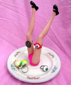 Lolita Baby Doll Barbie Doll Legs Ring Holder by Sinsperations, $18.00