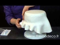Comment étaler et poser facilement de la pâte à sucre - YouTube