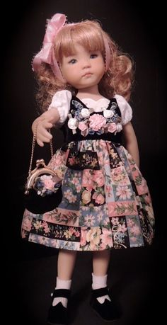 Alpine Dress & Purse - fits 13  Little Darling by Dianna Effner