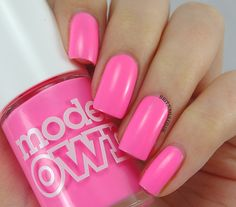 MODELS OWN - Sun Hat is a bright barbie pink ..2 coats #nail #nails #nailpolish