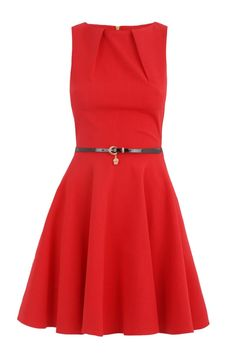 RED Full Circle Dress