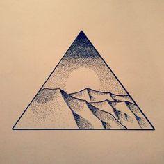 line landscape desert tattoos - Google Search