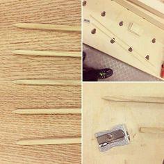 Like a pro. Kynänteroittimella sukkapuikot. :P #puuseppä #puuala #osao #opiskelu #woodworking #woodwork #joinery #carpenter #design #studing #knitting http://ift.tt/2grIroN