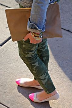 A Gap jean jacket and a pair of pants as featured on the blog Bows & Sequins.