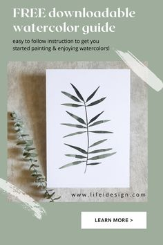 Easy to follow instruction and PDF to get you started painting and enjoying watercolors. www.lifeidesign.com Learn Watercolor Painting, Color Swatches, Painting Techniques, Watercolors, Pdf, Learning, Easy, Free, Paint Techniques