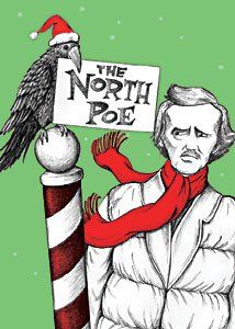 "Amazon.com: North Poe - Box of 15 Holiday Cards and Envelopes ""Edgar Allen Poe"": Health & Personal Care"