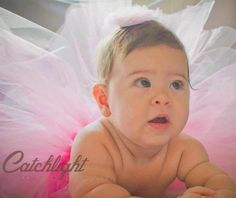 Annabelle's six (6) month infant / baby photo shoot with hair bow and tutu Photo by Catchlight Photography by Kristen