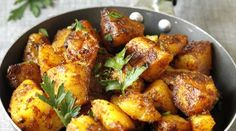 Recipe for Bombay Potatoes - This is a healthy recipe for Bombay Potatoes, a typical Indian dish. Quick and simple, and oh sooo yummy!