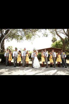 Country Yellow Wedding