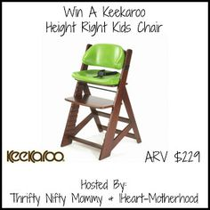 Keekaroo Height Right Kids Chair Giveaway! - Fun With Four