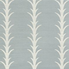 Schumacher Celerie Kemble Acanthus Stripe Sisal Wallpaper In Chambray Bathroom Wallpaper Trends, Wallpaper Samples, Fabric Wallpaper, Wallpaper Roll, Striped Wallpaper, Textured Wallpaper, Celerie Kemble, Luxury Flooring, Acanthus