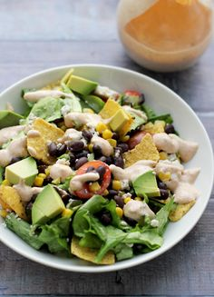Mexican Fiesta Chopped Salad - Joanne Eats Well With Others - Salad Recipes Mexican Dishes, Mexican Food Recipes, Vegetarian Recipes, Cooking Recipes, Healthy Recipes, Ethnic Recipes, Dinner Recipes, Meal Recipes, Delicious Recipes