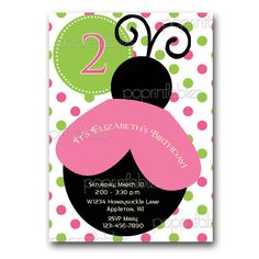 Ladybug Pink and Green Polka Dot Birthday Party by PopPrintables, $12.00