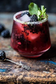 Blackberry Bourbon Smash | halfbakedharvest.com @hbharvest substitute agave for honey to make vegan